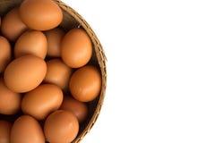 λευκό αυγών καλαθιών ανα Στοκ Εικόνες