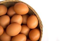 λευκό αυγών καλαθιών ανα Στοκ φωτογραφία με δικαίωμα ελεύθερης χρήσης