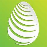 λευκό αυγών Πάσχας ανασκόπησης Απεικόνιση ενός διακοσμημένου αυγού Πάσχας με το πράσινο υπόβαθρο απεικόνιση αποθεμάτων