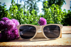 λευκό γυαλιών ηλίου Στοκ Εικόνα