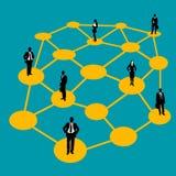 λευκό επιχειρησιακών δικτύων ανασκόπησης Στοκ εικόνα με δικαίωμα ελεύθερης χρήσης