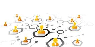 λευκό επιχειρησιακών δικτύων ανασκόπησης διανυσματική απεικόνιση