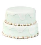 λευκό κέικ γενεθλίων αν&alph Στοκ Φωτογραφία
