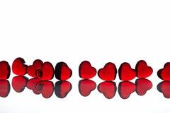 λευκό καρδιών Στοκ φωτογραφία με δικαίωμα ελεύθερης χρήσης
