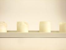 λευκό κεριών Στοκ φωτογραφίες με δικαίωμα ελεύθερης χρήσης