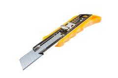 λευκό μαχαιριών κοπτών κιβωτίων ανασκόπησης Στοκ Φωτογραφία