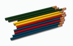 λευκό μολυβιών ανασκόπησης Στοκ εικόνα με δικαίωμα ελεύθερης χρήσης