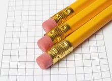 λευκό μολυβιών ανασκόπησης Στοκ Εικόνα
