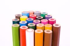 λευκό μολυβιών χρώματος ανασκόπησης στοκ φωτογραφία με δικαίωμα ελεύθερης χρήσης
