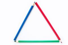λευκό μολυβιών χρώματος ανασκόπησης στοκ εικόνα με δικαίωμα ελεύθερης χρήσης