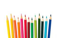 λευκό μολυβιών χρώματος ανασκόπησης στοκ φωτογραφία