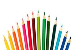 λευκό μολυβιών χρώματος ανασκόπησης στοκ φωτογραφίες με δικαίωμα ελεύθερης χρήσης