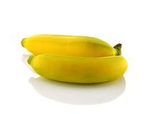 λευκό μπανανών ανασκόπησης Στοκ Φωτογραφία