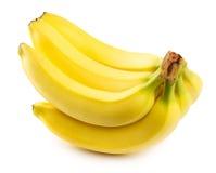 λευκό μπανανών ανασκόπησης Στοκ φωτογραφίες με δικαίωμα ελεύθερης χρήσης