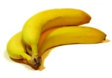 λευκό μπανανών ανασκόπηση&sig Στοκ εικόνες με δικαίωμα ελεύθερης χρήσης