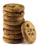 λευκό μπισκότων σοκολάτας τσιπ ανασκόπησης Στοκ Εικόνες