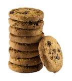 λευκό μπισκότων σοκολάτας τσιπ ανασκόπησης Στοκ εικόνα με δικαίωμα ελεύθερης χρήσης