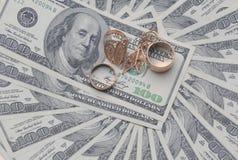 λευκό δολαρίων ανασκόπη&sig Στοκ Εικόνες
