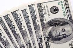 λευκό δολαρίων ανασκόπη&sig Στοκ Φωτογραφία