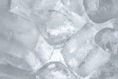 λευκό πάγου κύβων ανασκόπησης Στοκ εικόνα με δικαίωμα ελεύθερης χρήσης