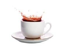 λευκό παφλασμών έκχυσης καφέ ανασκόπησης Στοκ εικόνα με δικαίωμα ελεύθερης χρήσης
