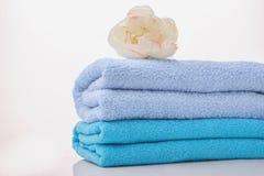 λευκό πετσετών ανασκόπησης Στοκ Εικόνα