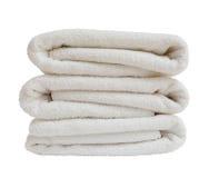 λευκό πετσετών λουτρών Στοκ Εικόνα