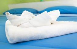 λευκό πετσετών Στοκ εικόνες με δικαίωμα ελεύθερης χρήσης