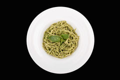 λευκό πιάτων Μαύρη ανασκόπηση απομονωμένος Στοκ Εικόνα