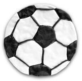 λευκό ποδοσφαίρου σφα&io Διαμόρφωση Plasticine στοκ εικόνα