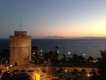 λευκό πύργων Θεσσαλονίκ στοκ φωτογραφίες
