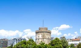λευκό πύργων Θεσσαλονίκ Στοκ εικόνες με δικαίωμα ελεύθερης χρήσης