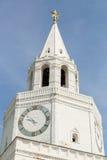 λευκό πύργων ρολογιών Στοκ Εικόνα