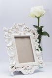 λευκό πλαισίων λουλο&upsilo Στοκ Εικόνα