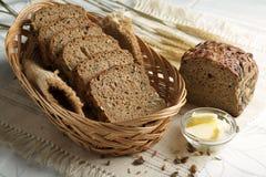 λευκό σίκαλης απομόνωσης ψωμιού Στοκ Εικόνα