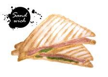 λευκό σειράς σάντουιτς παλιοπραγμάτων εικόνας τροφίμων ανασκόπησης Στοκ Εικόνες