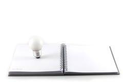 λευκό σημειώσεων βιβλίω& Στοκ Εικόνα