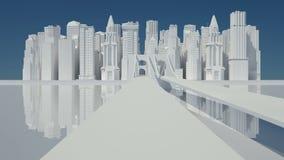 λευκό σκίτσων πόλεων απεικόνιση αποθεμάτων