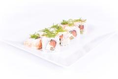 λευκό σουσιών πιάτων ανα&sigm Στοκ φωτογραφία με δικαίωμα ελεύθερης χρήσης