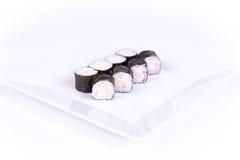λευκό σουσιών πιάτων ανα&sigm Στοκ Εικόνες