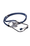 λευκό στηθοσκοπίων οργάνων γιατρών ανασκόπησης Στοκ Εικόνα