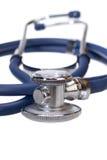 λευκό στηθοσκοπίων οργάνων γιατρών ανασκόπησης Στοκ Εικόνες