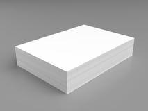 λευκό στοιβών εγγράφου Στοκ εικόνα με δικαίωμα ελεύθερης χρήσης
