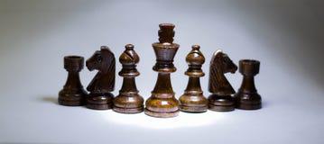 λευκό στρατηγικής σκακιού χαρτονιών ανασκόπησης Στοκ Φωτογραφίες