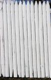 λευκό στύλων φραγών Στοκ Φωτογραφίες