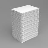λευκό σωρών εγγράφου Στοκ Εικόνες