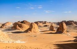 λευκό της Αιγύπτου ερήμω& Στοκ φωτογραφία με δικαίωμα ελεύθερης χρήσης