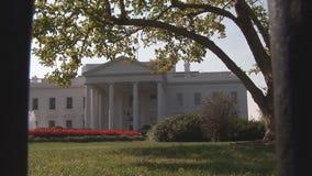 λευκό της Ουάσιγκτον συνεχών σπιτιών απόθεμα βίντεο