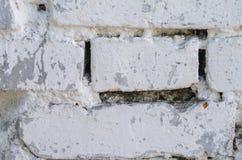 λευκό τοίχων σύστασης τούβλου Στοκ Εικόνα