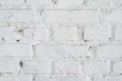 λευκό τοίχων σύστασης τούβλου Στοκ Φωτογραφίες